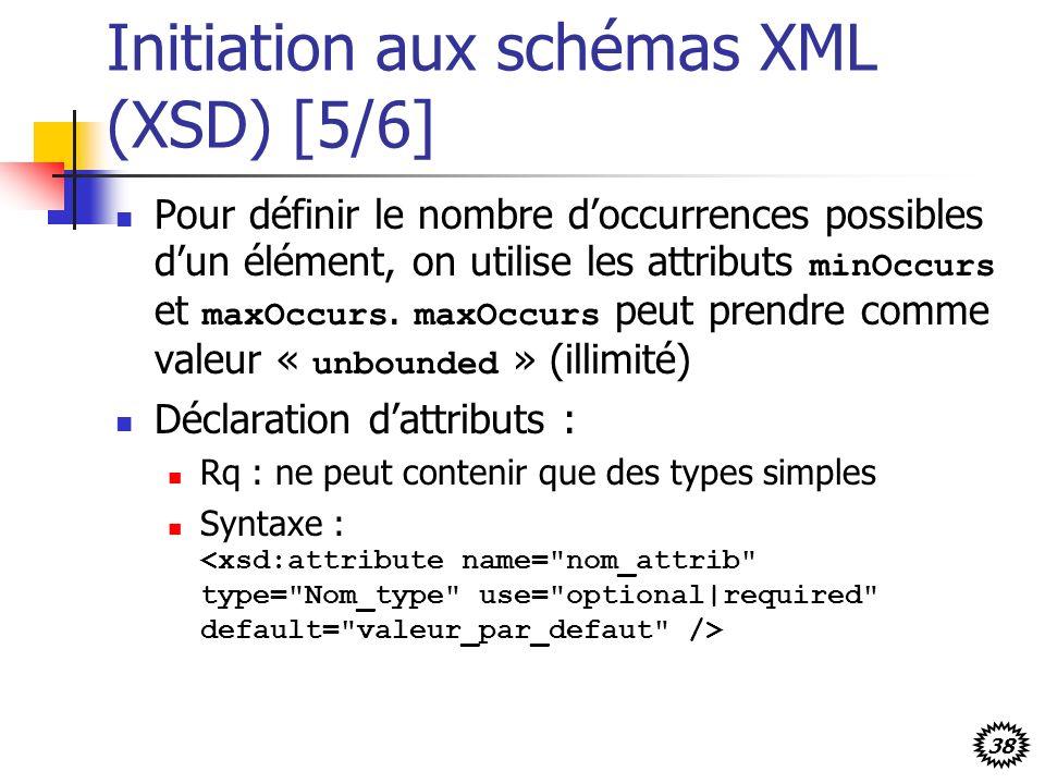 Initiation aux schémas XML (XSD) [5/6]
